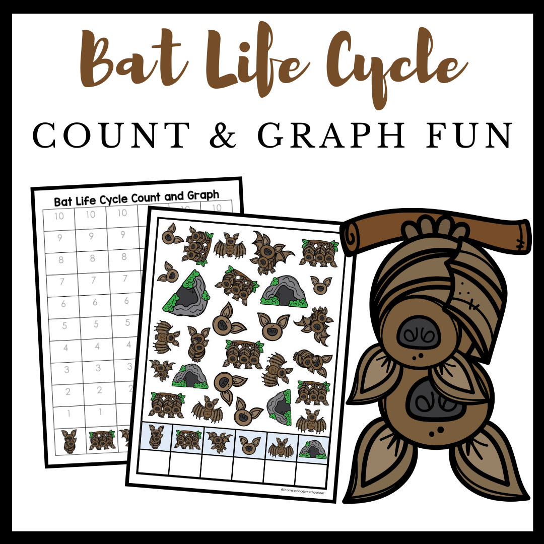 Printable Bat Life Cycle Count And Graph Worksheets