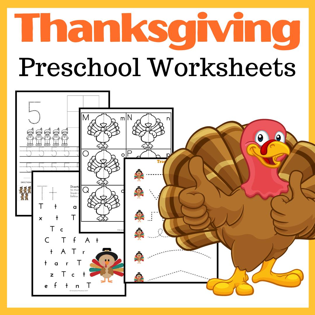 Printable Thanksgiving Activities For Preschoolers