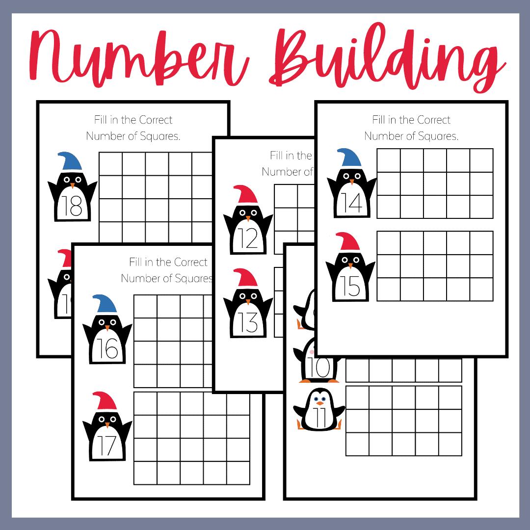 Penguin Counting Worksheets For Preschool And Kindergarten