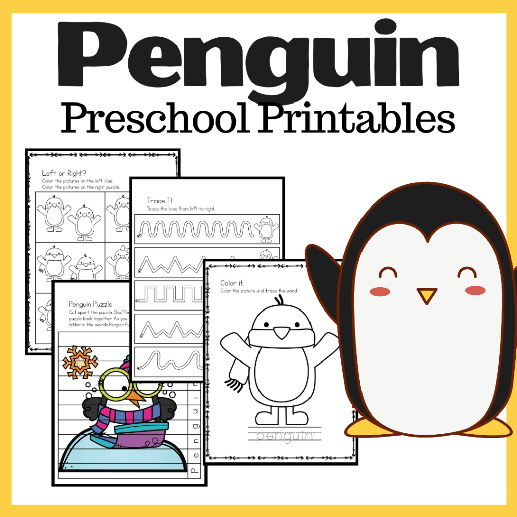 P Is For Penguin Worksheets For Preschoolers