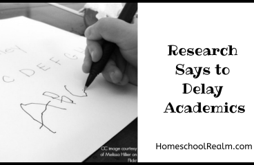 Research says to delay academics!