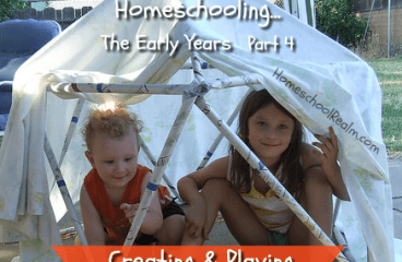 Homeschooling the early years, part 4, creating & playing