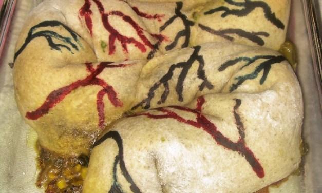 Visual Halloween Recipe: Stuffed Intestines