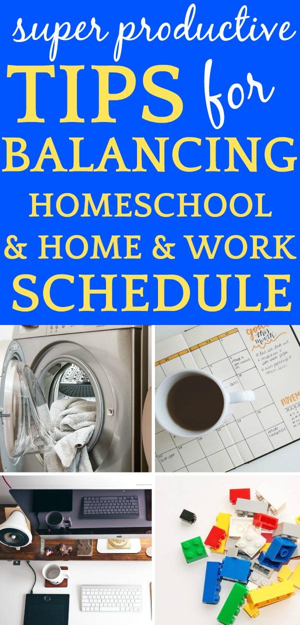 Balancing Homeschool and Housework (and Work)