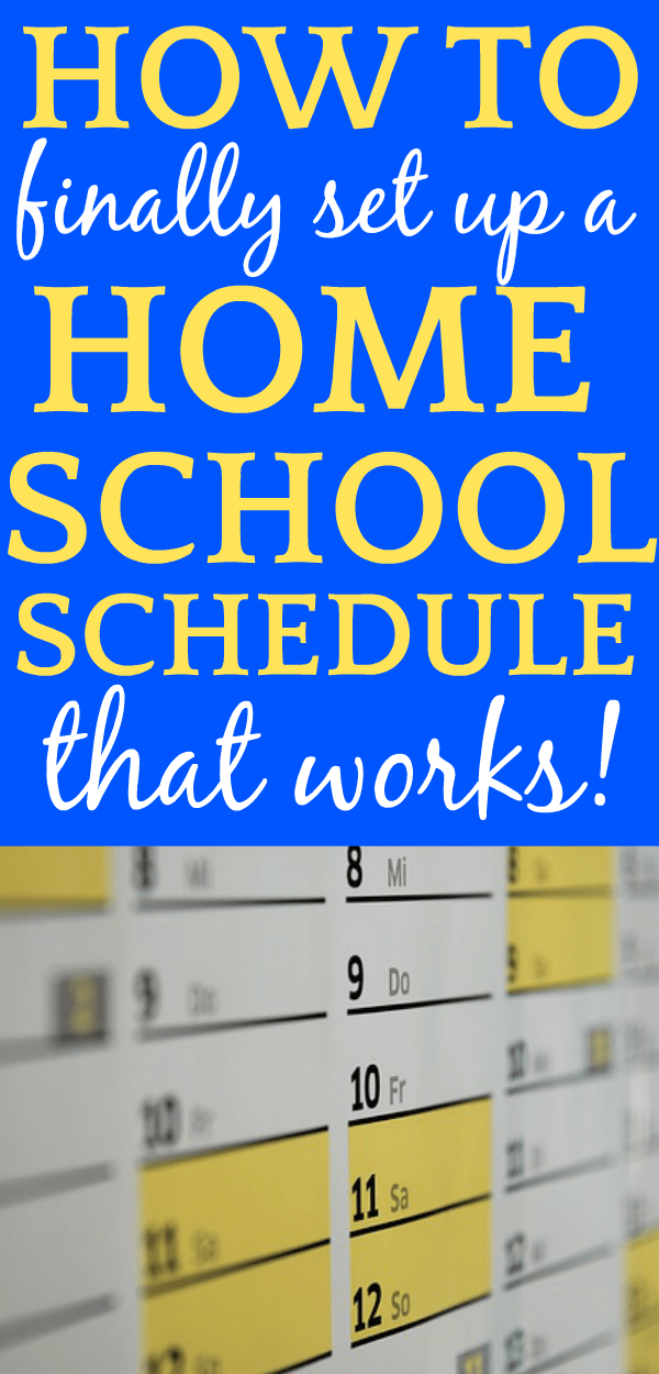 Homeschool Balance and a Homeschool Schedule That Works