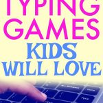 Must Have Typing Lessons for Kids text over image of finger on a keyboard