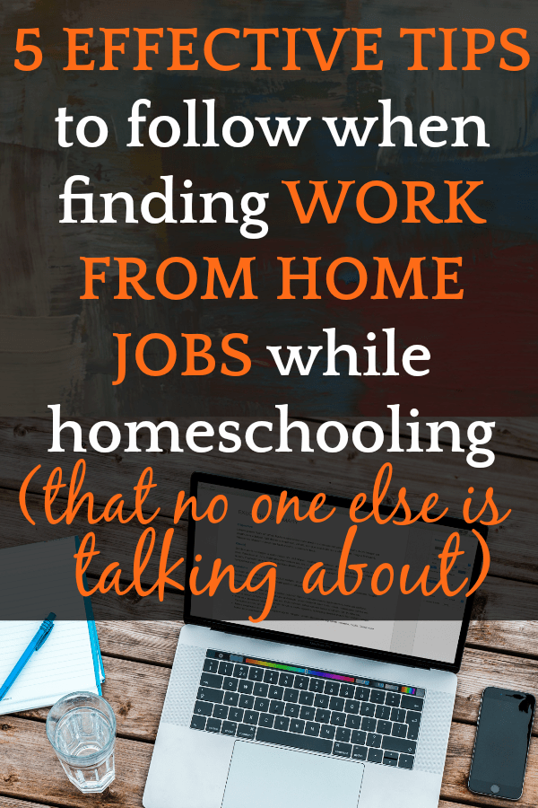 How To Make Money From Home: 12 Best Jobs for Moms who Homeschool [UPDATED 2019] open laptop on a table with a notepad and pen