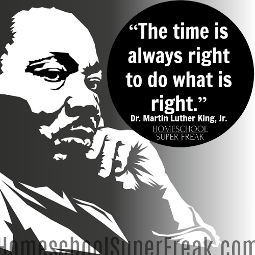 Black History Month Quotes: Time is always right to do what is right.-mlk
