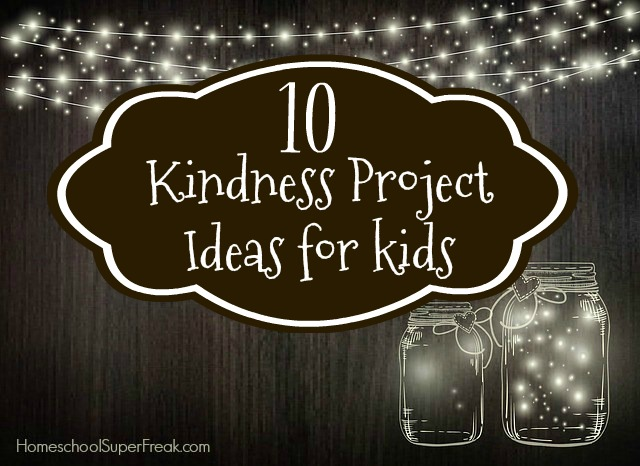10 Kindness Project Ideas for Kids jars with lights in them