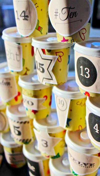 DIY Advent Calendar Idea #4. Jar Advent Calendar