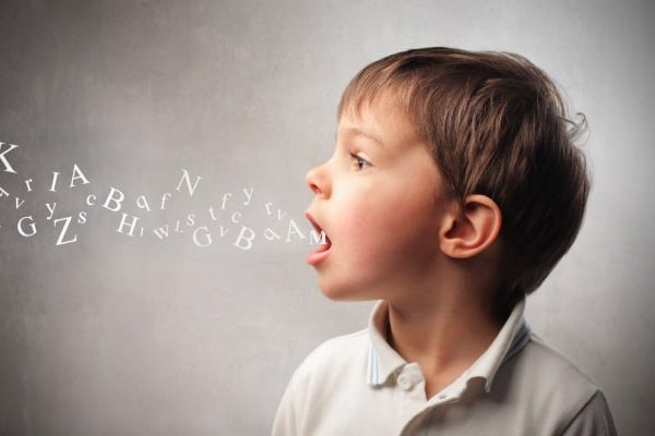 Unschooling Homeschool Foreign Language child with different letters coming out of his mouth