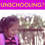 What Is Unschooling girl wearing a backpack and reading a book outdoors