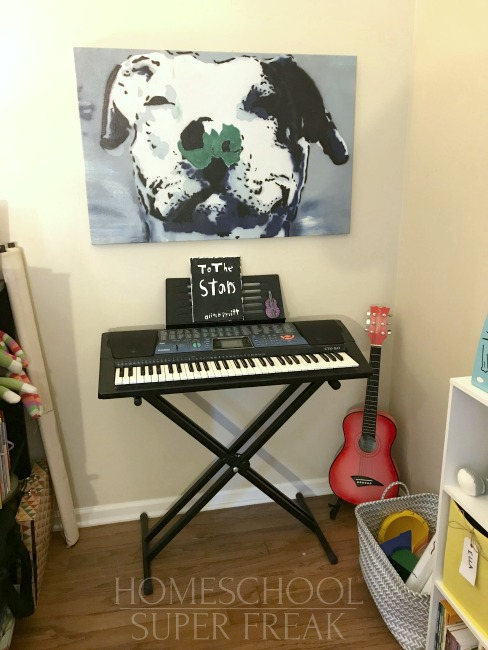 Homeschool Classroom Makeover Music Corner