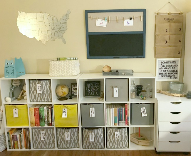Homeschool Room Makeover Storage Cubes