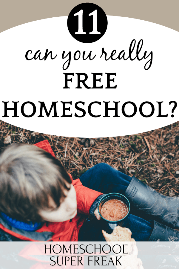 #11 IN HOW TO HOMESCHOOL SERIES: Can you free homeschool? young boy sitting on the ground with a cup of hot chocolate