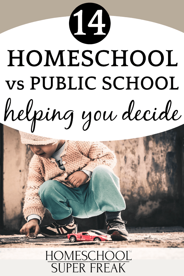 #14 IN HOW TO HOMESCHOOL SERIES: Public School vs Homeschooling: Which is better?: small child playing in the dirt with toy cars
