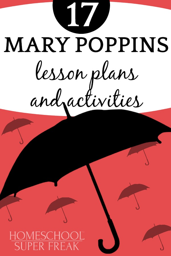 black cartoon umbrellas on a red background