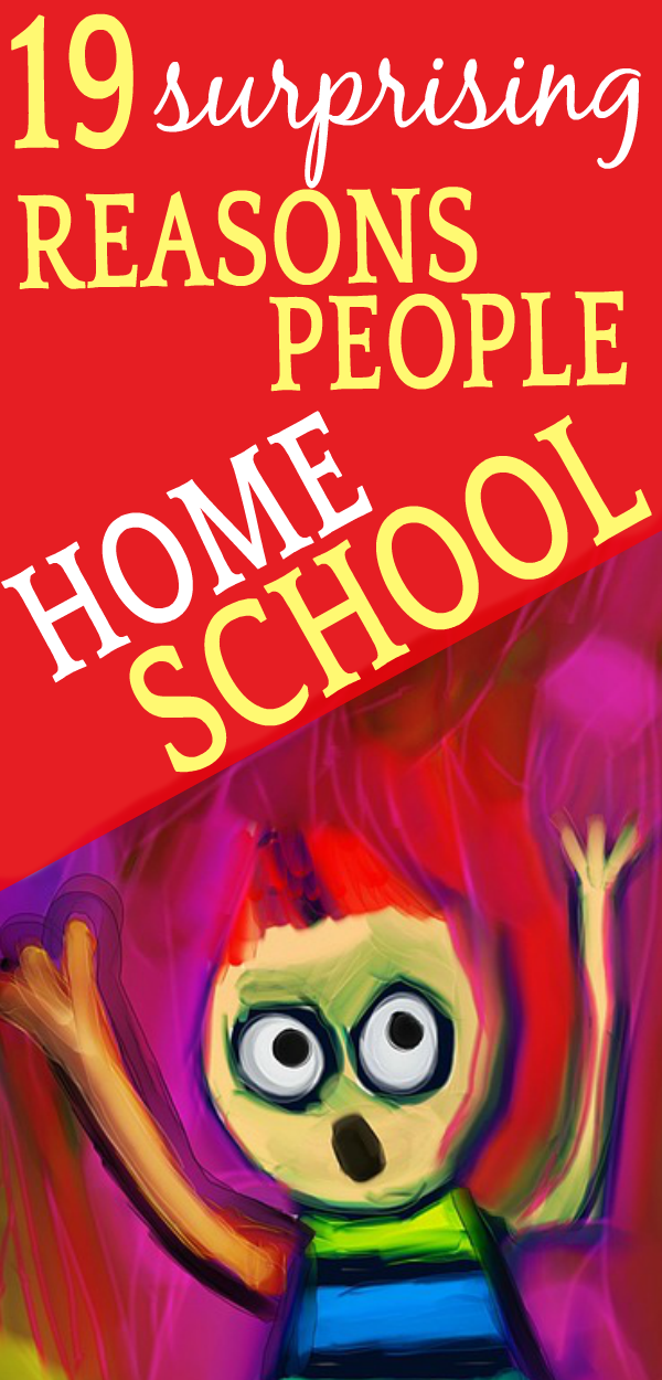 19 SURPRISING Reasons Why People Homeschool Their Children cartoon character with arms in air and scared look on face