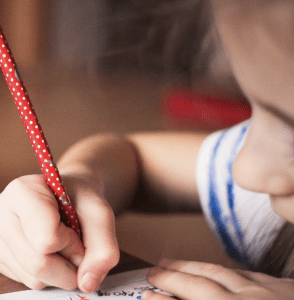 Homeschool Standardized Testing child taking a test