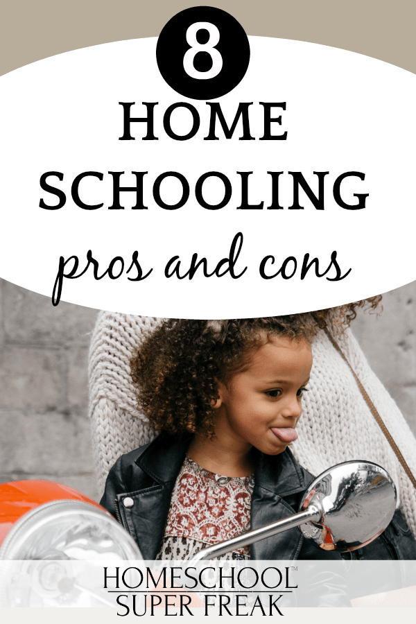 #8 IN HOW TO HOMESCHOOL SERIES: What are homeschooling pros and cons? Little girl sticking her tongue out to a mirror