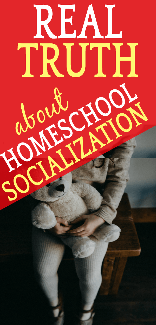 REAL Truth About Homeschool Socialization As One of the Homeschool Disadvantages : little girl holding a stuffed bear and sitting in a chair alone
