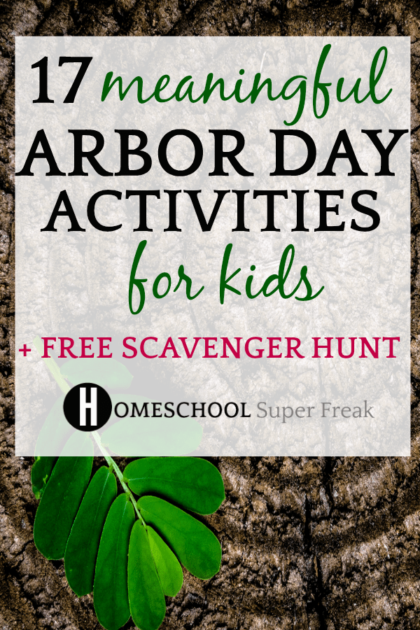 Arbor Day Activities for Kids and Free Printable