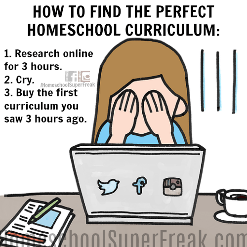 Funny Homeschooling Memes #2: When You Need Even More Directions on How To Select a Homeschool Curriculum in 3 Easy Steps
