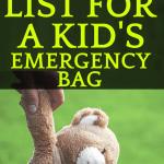 Comprehensive Emergency Kit CheckList for Kids