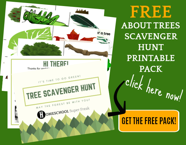 Free Printables for Kids: Tree Scavenger Hunt