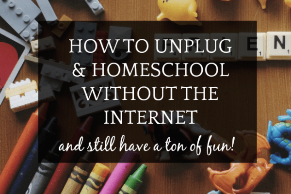 How To Homeschool Without Internet (GASP!)