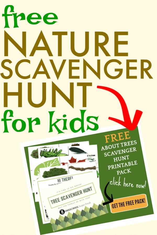 FREE Nature Scavenger Hunt for Kids