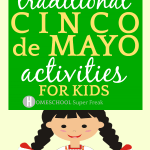 Cinco De Mayo Facts with cartoon girl in traditional Mexican Puebla dress