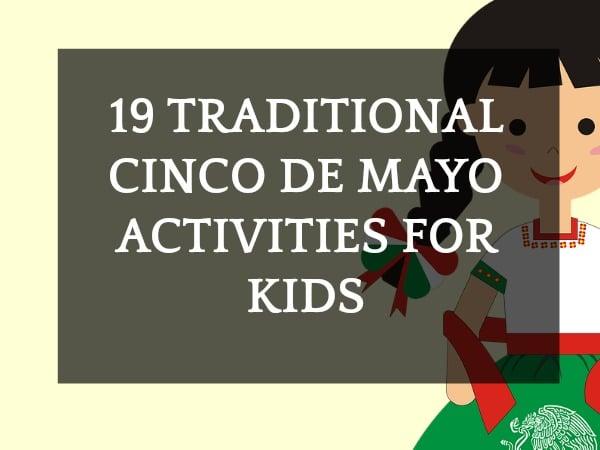 Cinco De Mayo Facts with cartoon girl in traditional Puebla Mexican dress