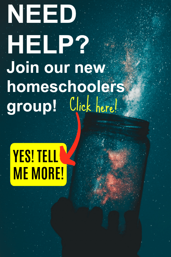 Need help? Join Our Group for New Homeschoolers!