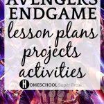 17 Avengers Endgame Lesson Plans Projects Activities