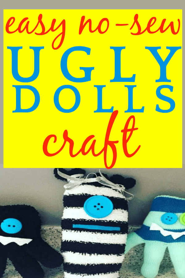 Easy Monsters Craft: DIY No-Sew Ugly Dolls on a table