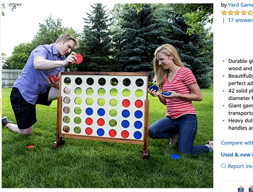 Sleepover Ideas Game Night: Giant Connect Four Game