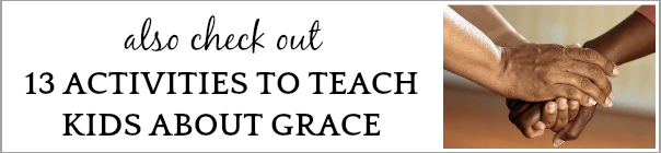 What is Grace? Teaching Kids Grace two adult hands holding onto each other