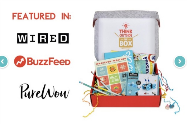Cratejoy Subscription box open with books and toys