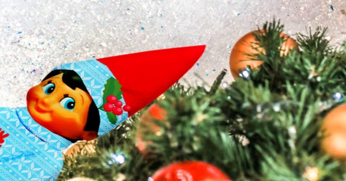 alternatives to Elf on the Shelf sitting on Christmas tree