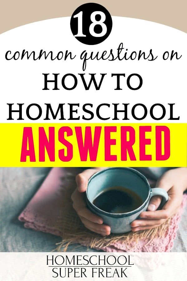 Homeschool How To Guide text over a woman's hands holding a coffee cup
