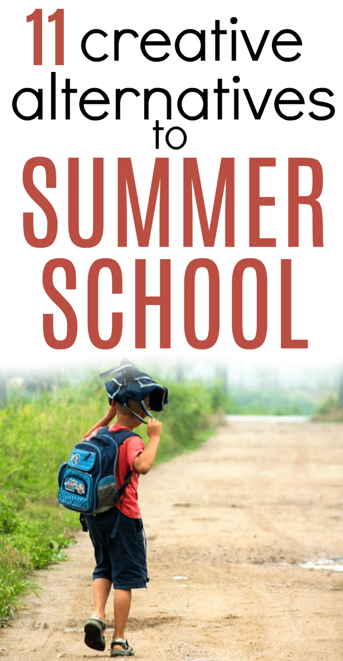 Creative Alternatives to Summer School young boy walking down a dirt road in summer with school backpack
