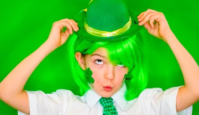 St Patrick's Day for Kids child in green st patricks day celebration clothing