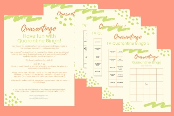 Free Printable Bingo Cards printable bingo cards on an orange background