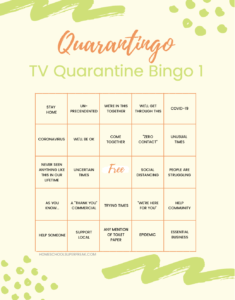 Quarantingo: Free Printable Bingo Cards