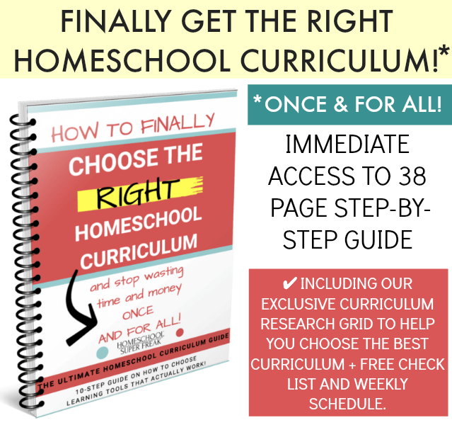 How to choose best homeschool curriculum for 1st grade and up! book cover