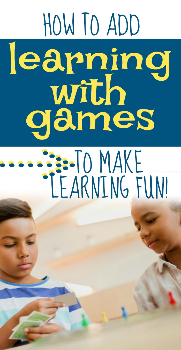 Games In Learning How to Use Game Based Learning Effectively text over an african american boy and african american girl playing a game with cards and game pieces