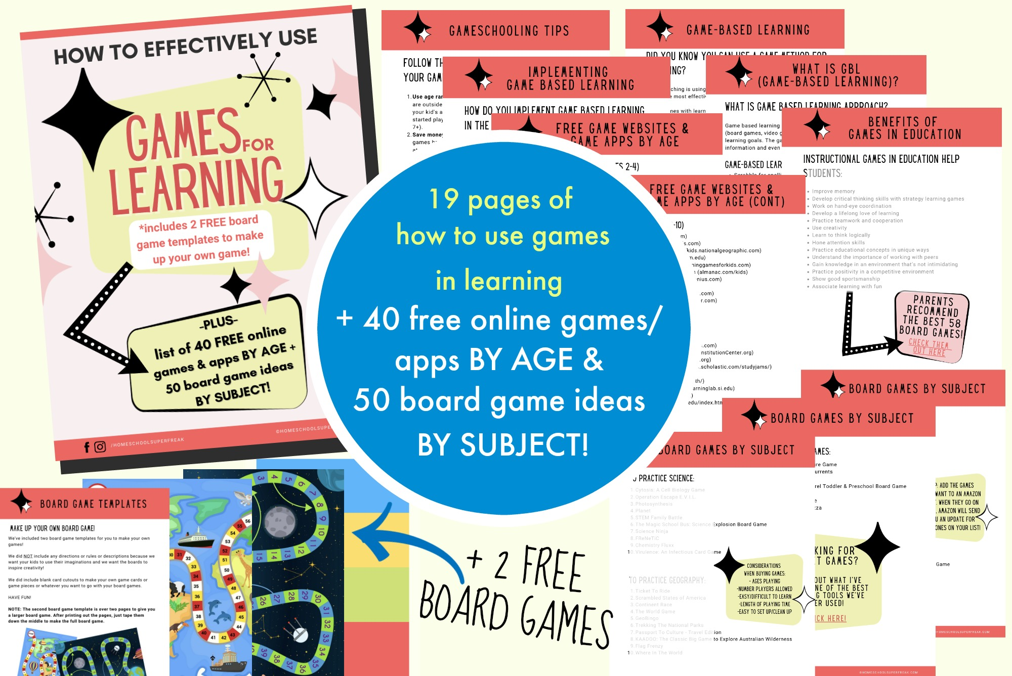 games for learning ebook cover with a fan out of pages