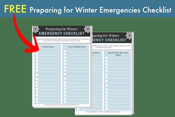 Winter Emergency Checklist