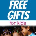 CLUTTER FREE GIFTS FOR KIDS text over an image of smiling kids looking into a present box